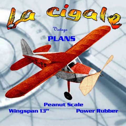 "Full size printed plans Peanut Scale ""La Cigale"" Paul Aubert's ""Grasshopper"