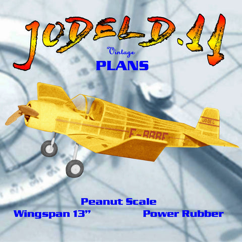 Full size printed plans Peanut Scale JODEL D.11 t's a little unusual