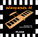 "Full Size Printed Plan & Building Notes Combat *Nemesis II* W/S 39""  Engine Supertigre .35"