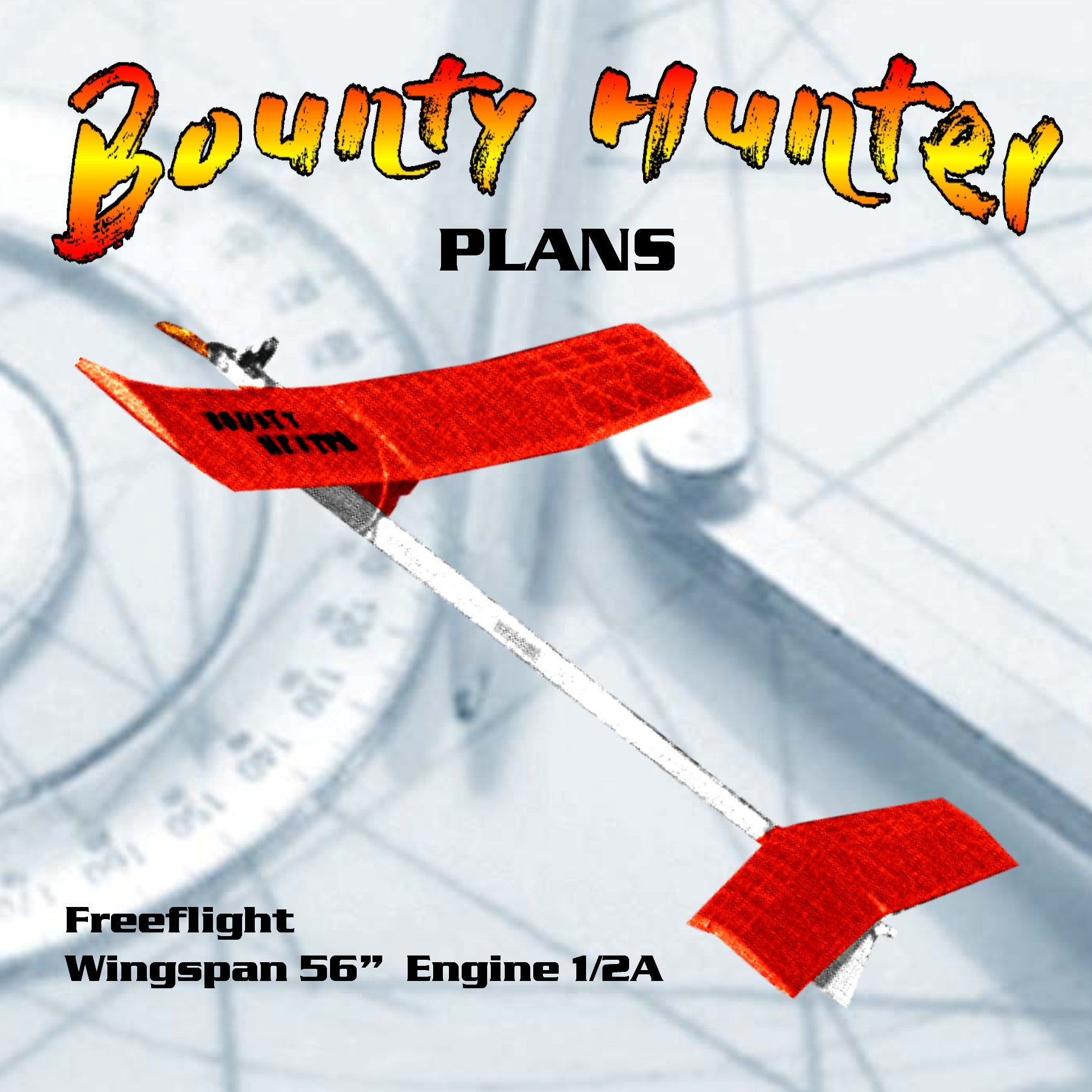 Full size printed plan vintage 1965 VTO's with a passion Freeflight Bounty Hunter 1/2A