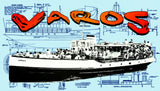 "Full size printed plan for Gosport Ferry Company Varos 36"" boat for radio control"