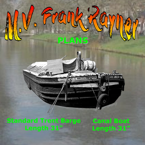 full size Printed Plan Canal Boat & Trent Barge M.V. Frank Rayner Suitable for Radio Control