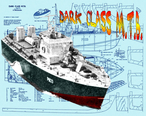 Full size Printed Plans & Article Scale 1:35  Length 31 DARK CLASS M.T.B. Suitable for Radio Control