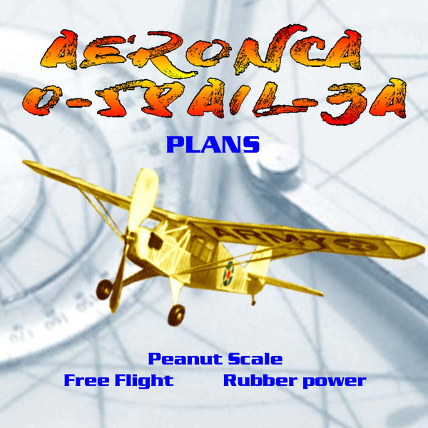 Full Size Printed Plans Peanut Scale AERONCA 0-58A/L-3A  DEFENDER here's one you know will fly.