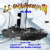 "Full Size Printed Plan Scale 1/96 short sea voyage passenger/cargo carrier ""S.S. GRANGEMOUTH"""