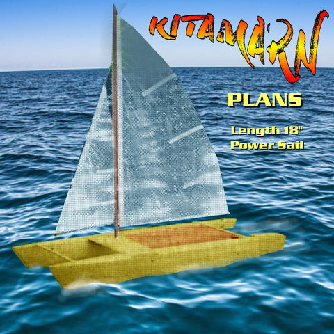 "Full size Printed Plans Catamaran KITAMARN L 28"" Sail boat"