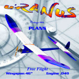 Full Size Printed Plan From 1964 1/2A CONTEST WINNING FREE Flightier URANUS