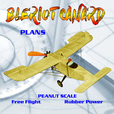 Full Size Printed Peanut Scale Plans BLERIOT CANARD  little unusual, it is also a contest winning flier