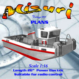 Build a 1:16 scale one‑man German tugboat Full size printed plans and building notes