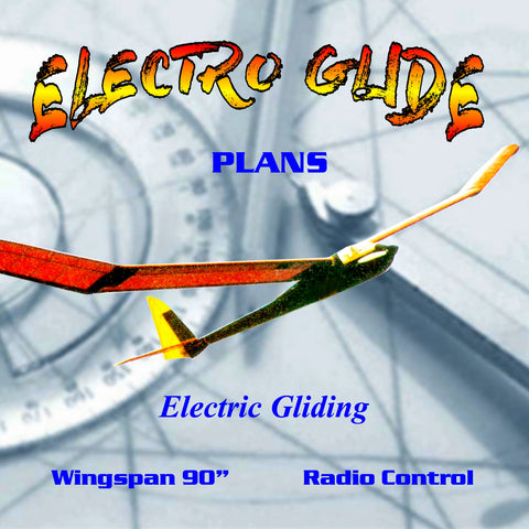 "Full Size Printed Plan Inexpensive electric fun Gliding 90"" W/S for Radio Control"