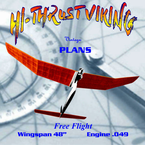 Full Size Printed Plan 1/2A FF VIKING By Carl Goldberg  EASY TO TRIM OUT