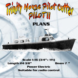 Full Size Printed Plan Scale 1:16 Trinity House Pilot Cutter Suitable for radio control