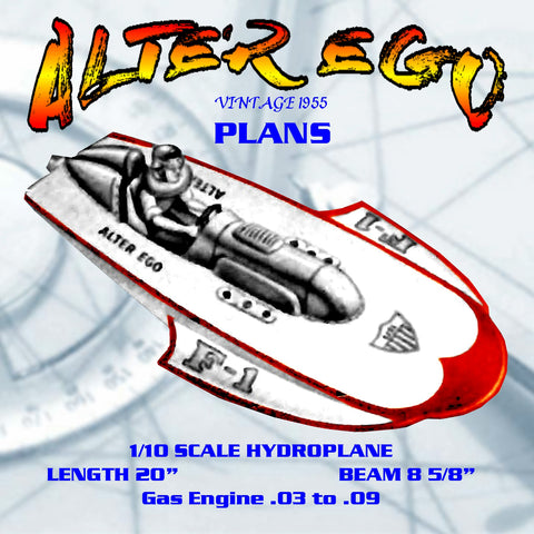 Build a 1/10 Scale Hydroplane  Gas Engine .03 to .09 full size printed plans