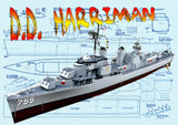 "Full Size Printed Plan and Article Semi-Scale 1/144, l 31 3/4"" Allen M. Sumner class of destroyer"