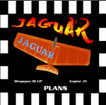 "Full Size Printed Plan & Building Notes English-style FAI combat *JAGUAR* Wingspan 36 1/2""  Engine .15"