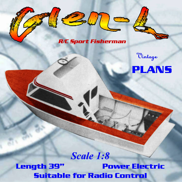 Build a 1/8 Scale R/C Glen-L Sport Fisherman Full size printed plans & building article