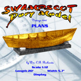 "Full Size Printed Plan vintage 1947 Scale 1:12 ""SWAMPSCOT Dory Model"" a fisherman's model"