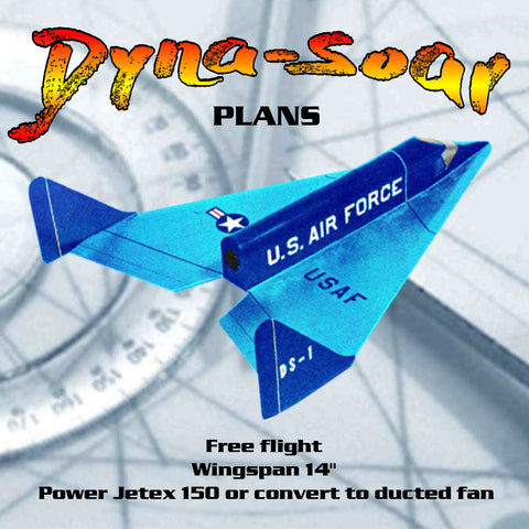 Full Size Printed Plan Vintage 1962 Rocket powered  Dyna-Soar  USAF Space Glider ...