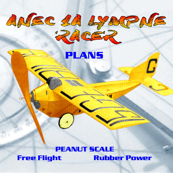 Full Size Printed Peanut Scale Plans ANEC 1A LYMPNE RACER excellent subject for Peanut Scale
