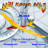 Full Size Printed Plan off the slope or flat really good floater W/S 86 inch for Radio Control