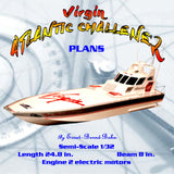 "Full Size Printed Plan semi‑scale 1/32 ""Virgin ATLANTIC CHALLENER"" for Radio Control"