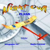"Full Size Printed Plan GLIDER W/S 59"" flight performance is beyond expectations."
