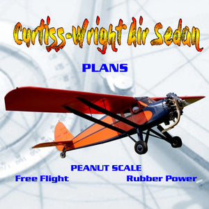 Full Size Printed Peanut Scale Plans Curtiss-Wright Air Sedan the 30s reminiscent of many aircraft from the Golden Age