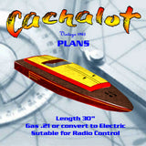 "Full Size Printed Plans Vintage 1965 a 31/2 c.c. (.21cu.in) racer ""Cachalot"" s very satisfactory"