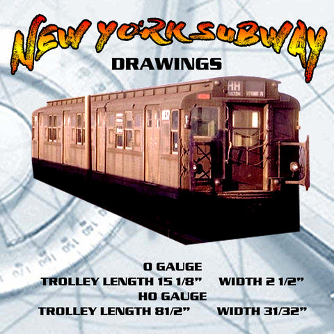 FULL SIZE PLANS vintage 1941 NEW YORK SUBWAY Trolley O & HO Gauge