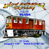 Full size printed plan SNOW FIGHTING TROLLEY A 1941 PLAN