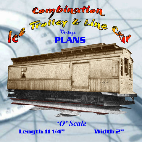 Full size printed plans O GAUGE Combination Ice Trolley & Line A 1948 PLAN