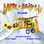 Full Size Printed Peanut Scale Plans AVIATIK + BERG C-l+ Ya gotta build this one