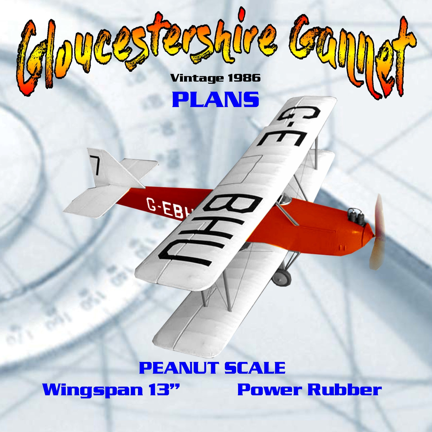 "Full size printed plans Peanut Scale ""Gloucestershire Gannet"" Construction is quite straightforward"