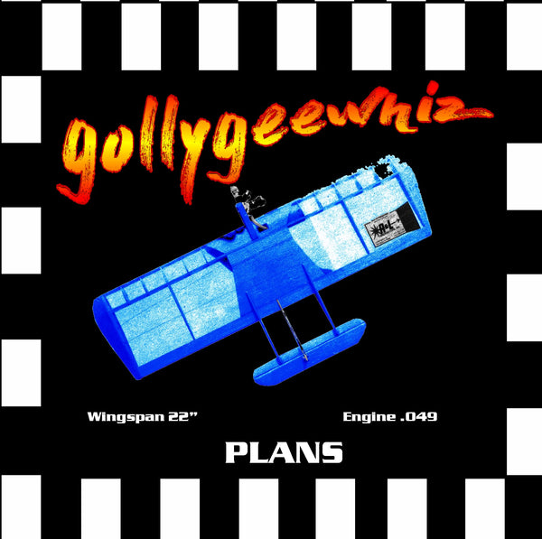 Full Size Printed Plan & Building Notes  Half‑A Combat *Gollygeewhiz* Engine .049  Wingspan 22
