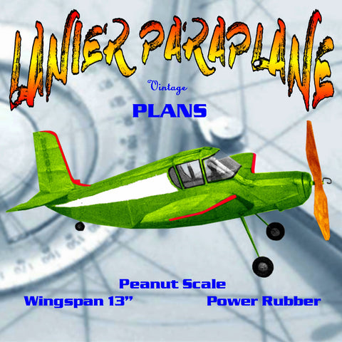 "Full size printed plans Peanut Scale ""LANIER PARAPLANE""  it makes a great Peanut Scale model!"