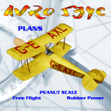 Full Size Printed Peanut Scale Plans  AVRO 534C is a good subject for C02