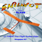 "Full Size Printed Plan A/1 NORDIC Towline Glider  45"" W/S ""ENILWOT"""