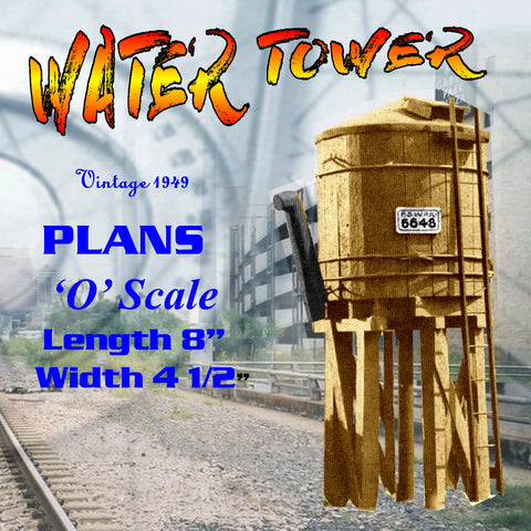 Full size printed plan WATER TOWER simple water tower that is to a scale