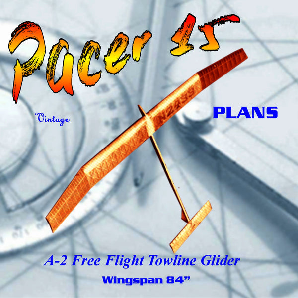 Full Size Printed Plan Championship FF A-2 Tow-Line Glider Wingspan 84""