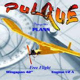 "Full Size Printed Plan 1961 ""Pulque"" Free Flight  W/s42""  Engine 1/2A BASIC TRAINER THAT CAN ALSO WIN"