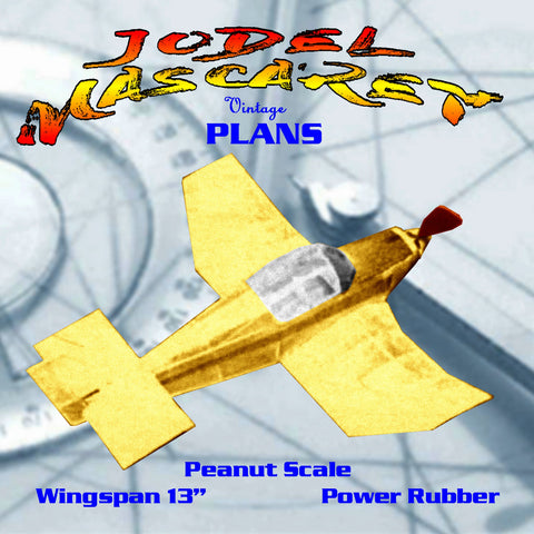 Full size printed plans Peanut Scale JODEL'MASCARET' suitable for flying indoors or out, in a field