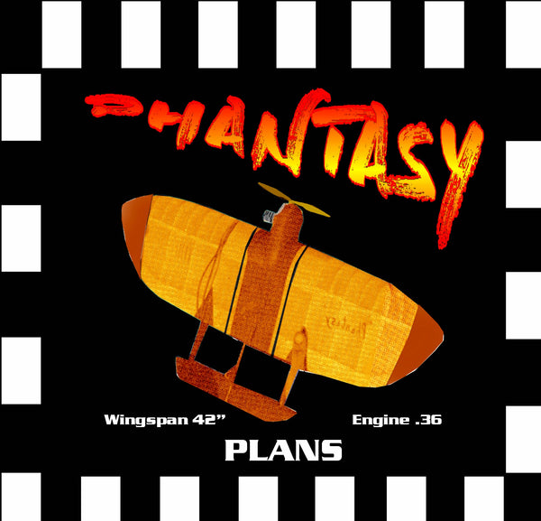 "Full Size Printed Plan & Building Notes dream combat *PHANTASY* W/S 42"" ENGINE  .35"