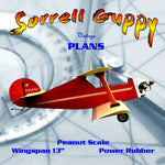 "Full size printed plans Peanut Scale ""Sorrell Guppy"" Construction is ultra-simple and duplicates the original"