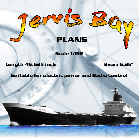 "Full Size Printed Plans Scale 1:192 container ship Jervis Bay L 46"" suitable for radio control"