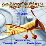 "Full size printed plans Peanut Scale GORDON ISRAEL'S ""RED HEAD""  sleek little racer,"