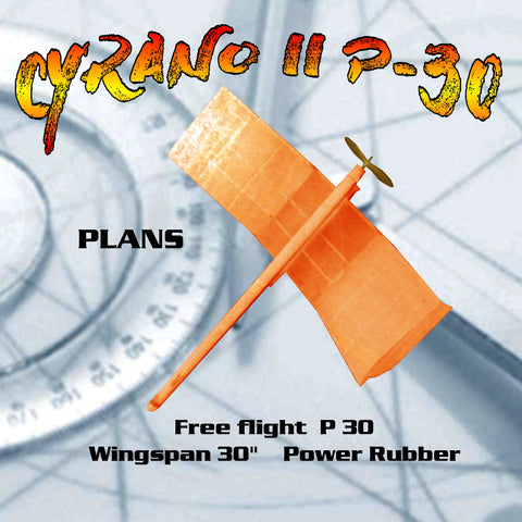 Printed Plan flying wing CYRANO II P-30 Power Rubber victorious in Open P-30