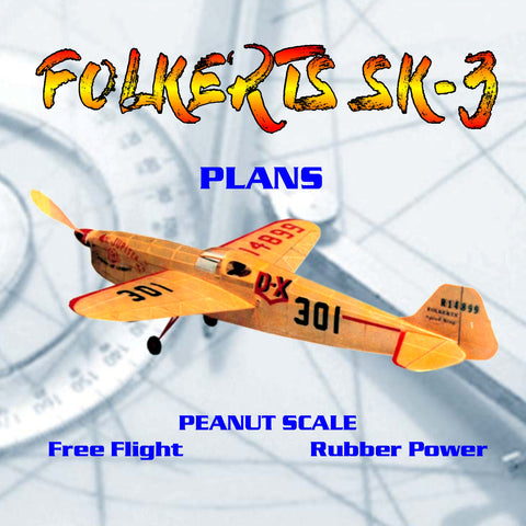 Full Size Printed Peanut Scale Plans FOLKERTS SK-3  best Peanut Scale models ever design