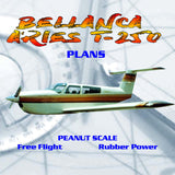 Full Size Printed Peanut Scale Plans BELLANCA ARIES T-250  slab-sided fuselage, which lends itself to simple lightweight Peanut