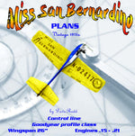 "Full Size Printed Plan Goodyear profile racer Scale 1:8 Control Line ""Miss San Bernardino"""