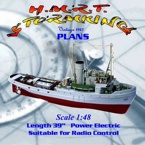 "Full Size Printed Plan 1/48 Scale 39""class Assurance escort & rescue tug"